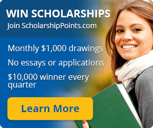 Advertisement, Win Scholarships, Join ScholarshipPoints.com. Learn More.